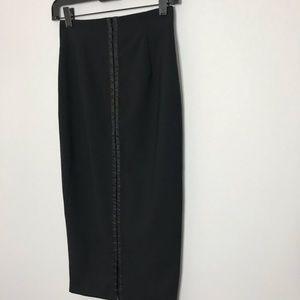 D&G Dolce & Gabbana Black Midi Pencil Skirt 40/4